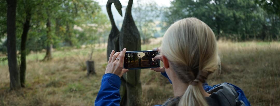Holzskulptur im Landschaftspark in Ditscheid