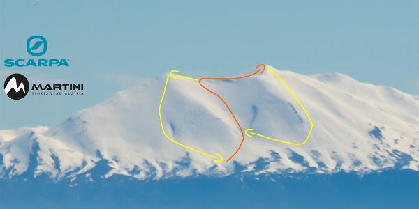 Übersichtsbild Skitour Timios Stavros - Psiloritis auf Kreta
