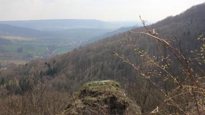 Blick von den Felswänden bei Frankendorf