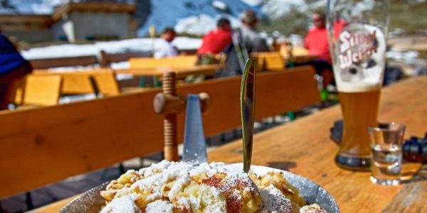 Kaiserschmarrn auf der Niederelbehütte, Foto: Petra Jehle