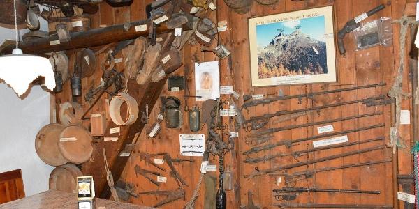 Piccolo Museo della Guerra alla Baita Monte Cauriol