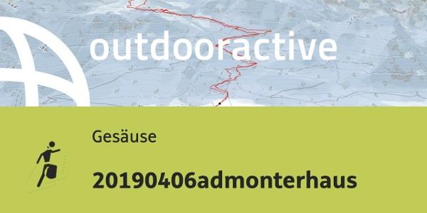 Skitour im Gesäuse: 20190406admonterhaus