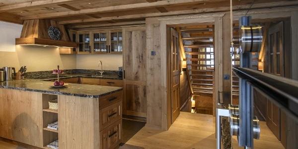 voll ausgestattete Berghaus Küche