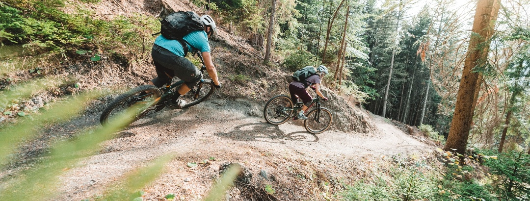 Downhill from Giw to Visp by mountain bike