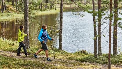 Wanderer in Pyhä-Luosto