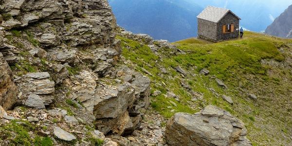 Böseckhütte aus Richtung der Straköpfe