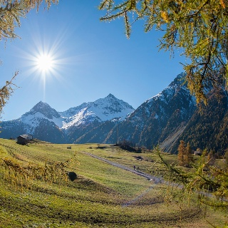 Ausblick auf die Berge