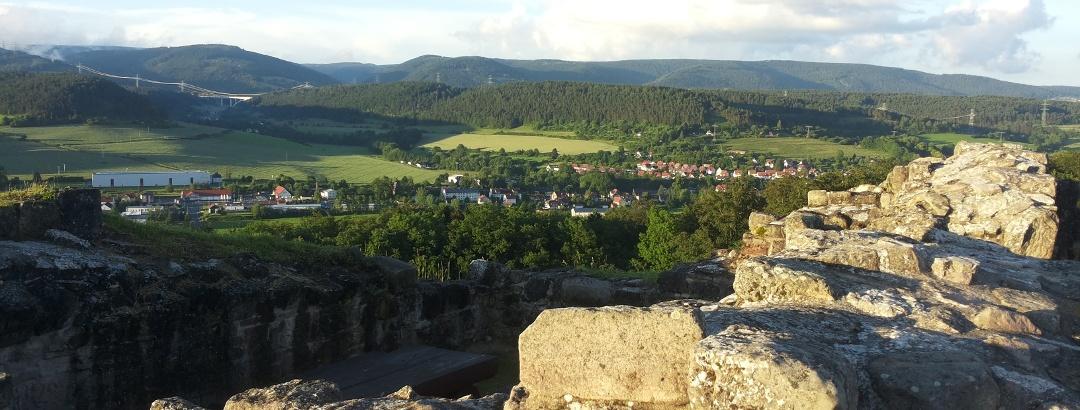 Aussicht von der Burgruine Schaumburg bei Schalkau