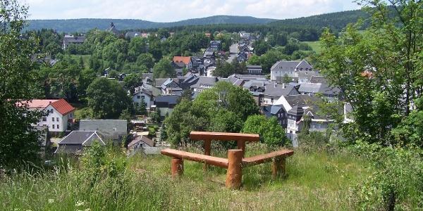 Hoher Stein - Ausblick auf Schmiedefeld