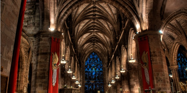 Interior view of St. Giles' Cathedral