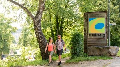Startpunkt des Eifelsteigs in Aachen-Kornelimünster