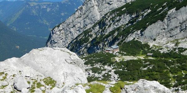 <![CDATA[Die Blaueishütte in wunderbarer Lage im Blaueiskar]]>
