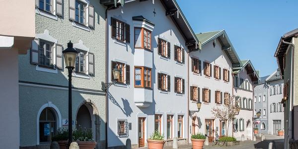 Giebelständige Häuser in der oberen Stadt