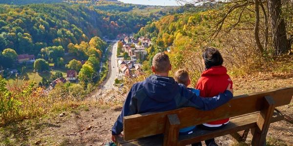 Blick vom Schornsteinberg auf Rübeland