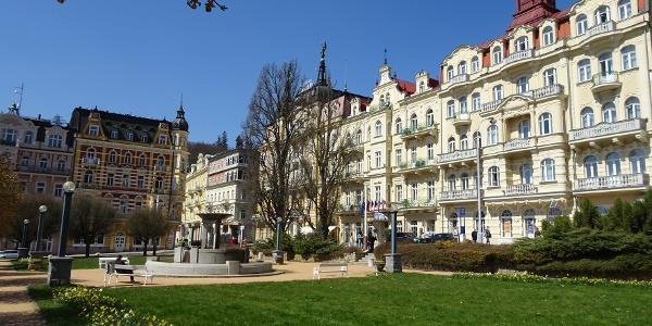 Ausgangspunkt ist Marienbad. Auch mit dem Zug erreichbar.