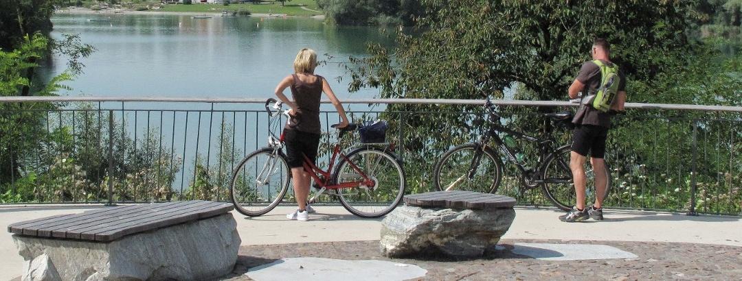Radler am Schlosssee