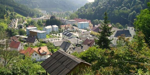Frantschach-St. Gertraud - Blick auf den Ort
