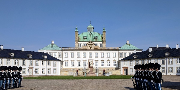 Changing of the guard at Fredensborg Palace