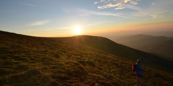 Sonnenaufgang auf der Gleinalm (c) Michael Hiden