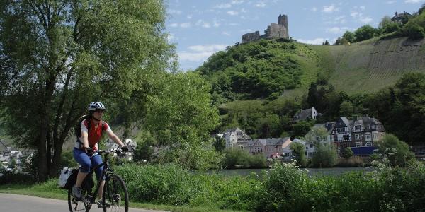 Moezel-fietspad nabij Bernkastel-Kues