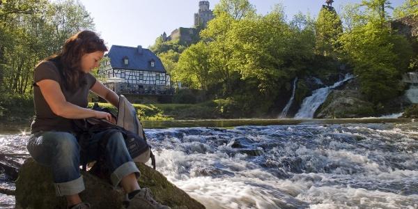 Pyrmonter Felsensteig_Elzbach-Wasserfall bei Pyrmonter Mühle