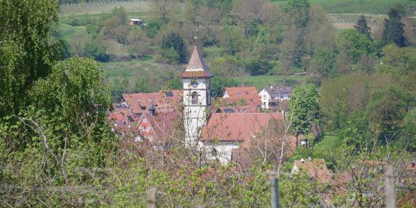 Markant: der Kirchturm von Materdingen