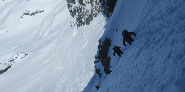 Gipfelaufstieg Scharte