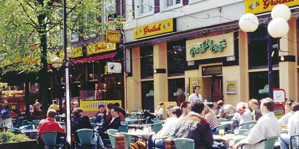 Straßenatmosphäre in der Niederlande