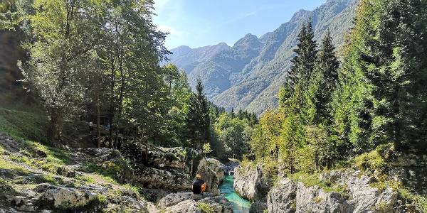 Die Soca mit Blick in den Triglav-Nationalpark