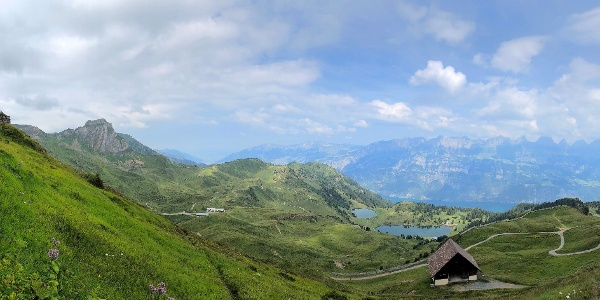 Panorama mit Seebenalp.