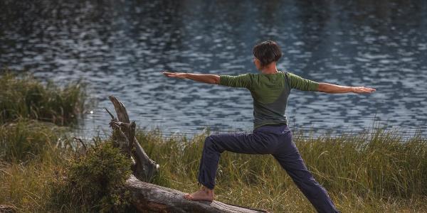 Posizione yoga del guerriero
