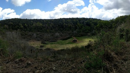 The volcanic crater at Santa Margarida