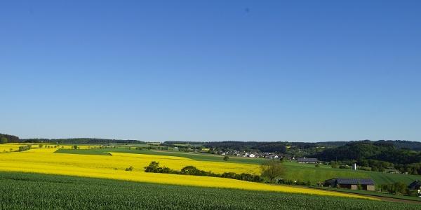 Felder und Wiesen am Karbachtalweg