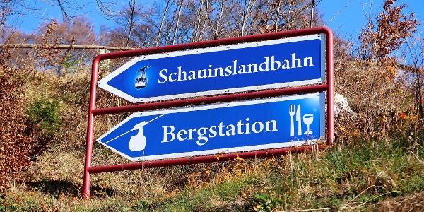 Ausgangspunkt Bergstation Schauinslandbahn.