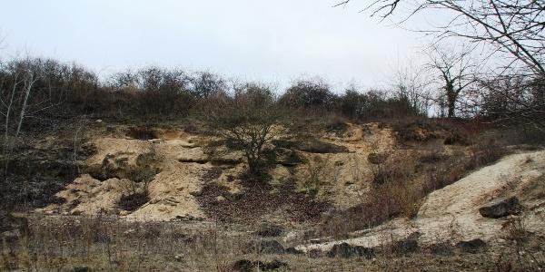 Sandgrube auf dem Küstenweg