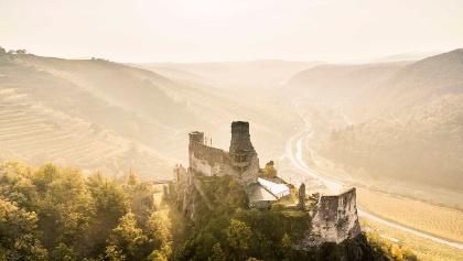 Herbstlandschaft mit Ruine Senftenberg