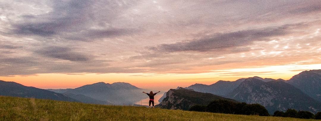 Traumhaftes Panorama auf dem Monte Casale in Terme di Comano-Dolomiti di Brenta