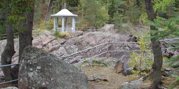 The geological trail of Imatra Kruununpuisto Park