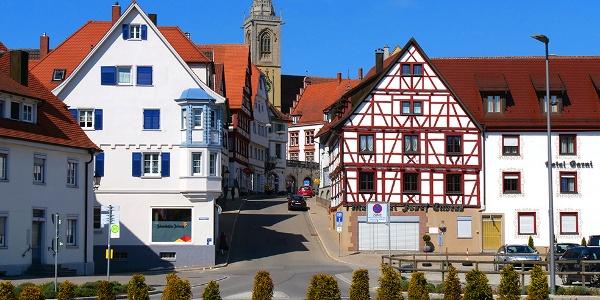 Blick auf die Kirche in Pfullendorf