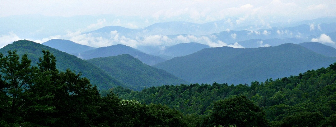 The Blue Ridge Mountains of Shenandoah National Park