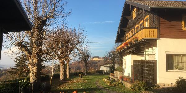 Blick von dem ehemaligen Gasthaus Eckertsklause zur Veste Coburg