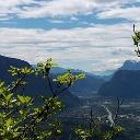 Vom Aussichtspunkt Rotwand ins Etschtal