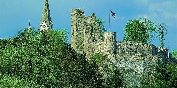 Blick auf Burgruine Kastellaun