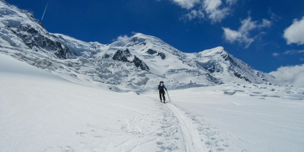 Auf dem Glacier des Bossons im Bereich Plan Glacier