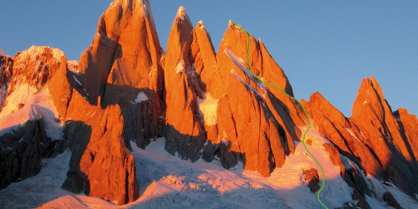 "Route ""Exocet"" on Cerro Stanhardt"