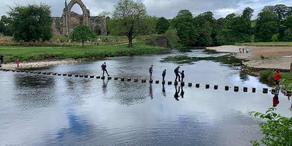 Stepping stones at Bolton Abbey