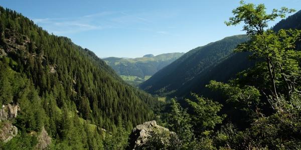 Blick zurück durchs Leiter Tal