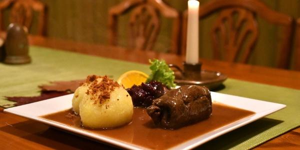 Essen im Gasthaus Frohsinn