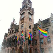 Rathaus Saarbrücken am CSD Day