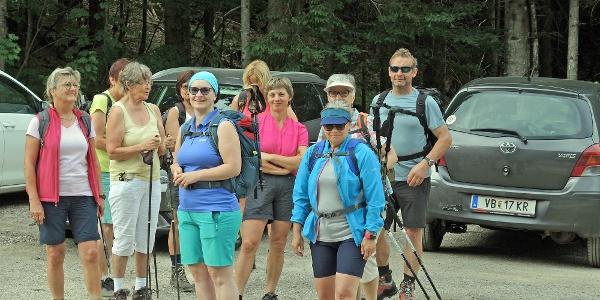 Start beim Alpengasthof Zellerrain